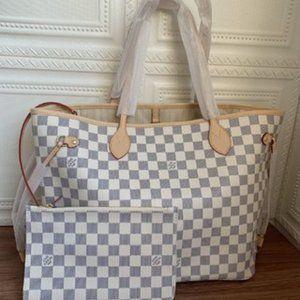 NWT LV NEVERFULL MM Cerise Monogram Bag